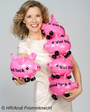 Franziska Reichenbacher ist als Moderatorin und Lottofee für die ARD und den Hessischen Rundfunk im Einsatz