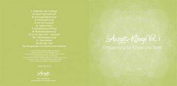 CD Hülle zum Ausschneiden - Auszeit Frühlings CD