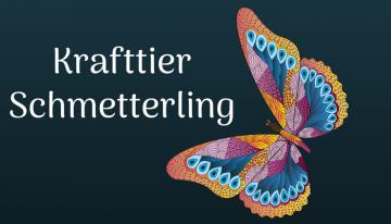 Finde die Leichtigkeit in Dir, sagt der Schmetterling
