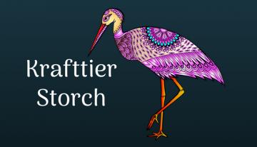 Der Storch bringt neues Leben und Fülle im Innen und Außen für Dich