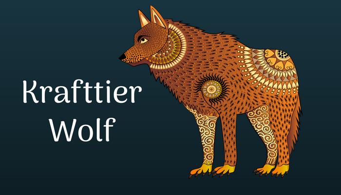 Das Krafttier Wolf ist als Rudeltier für die Sicherheit einer Gemeinschaft verantwortlich