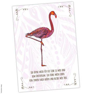 das Krafttier Flamingo steht für Liebe und Herzöffnung