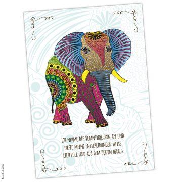 Krafttierkarte Elefant