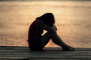einsam und traurig