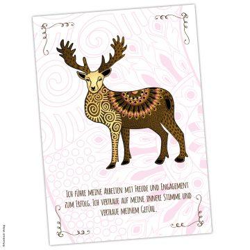 Postkarte Krafttier Elch