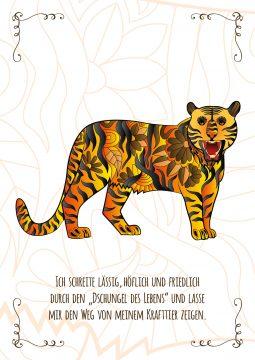 Tiger Krafttierkarte