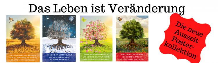 Poster-Set 4 Jahreszeiten - Das Leben ist Veränderung